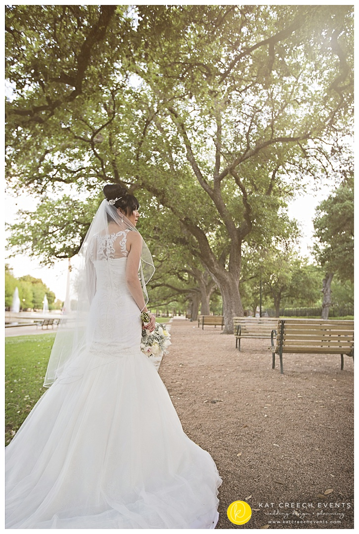 Bridal walk in park