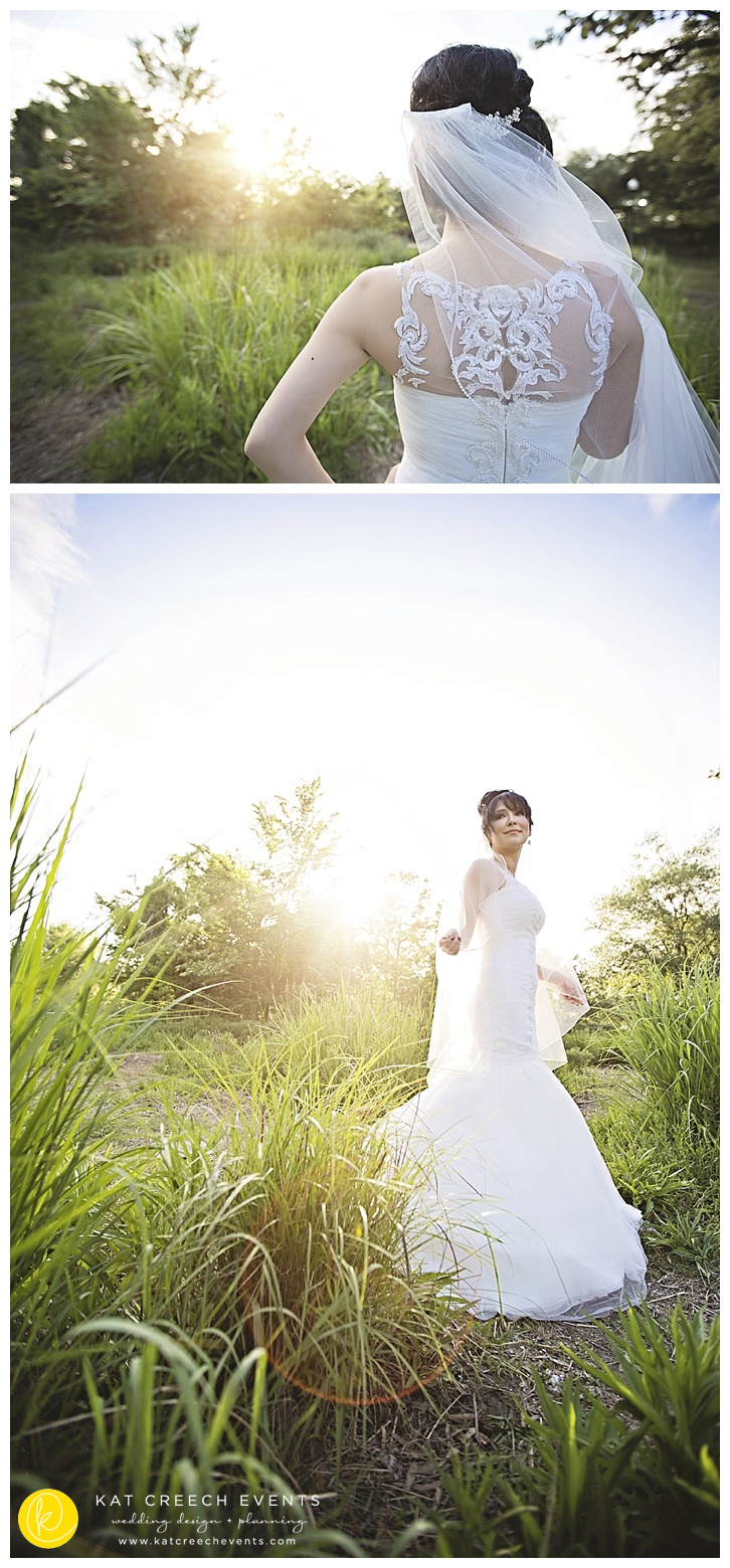 Bridal photo grass