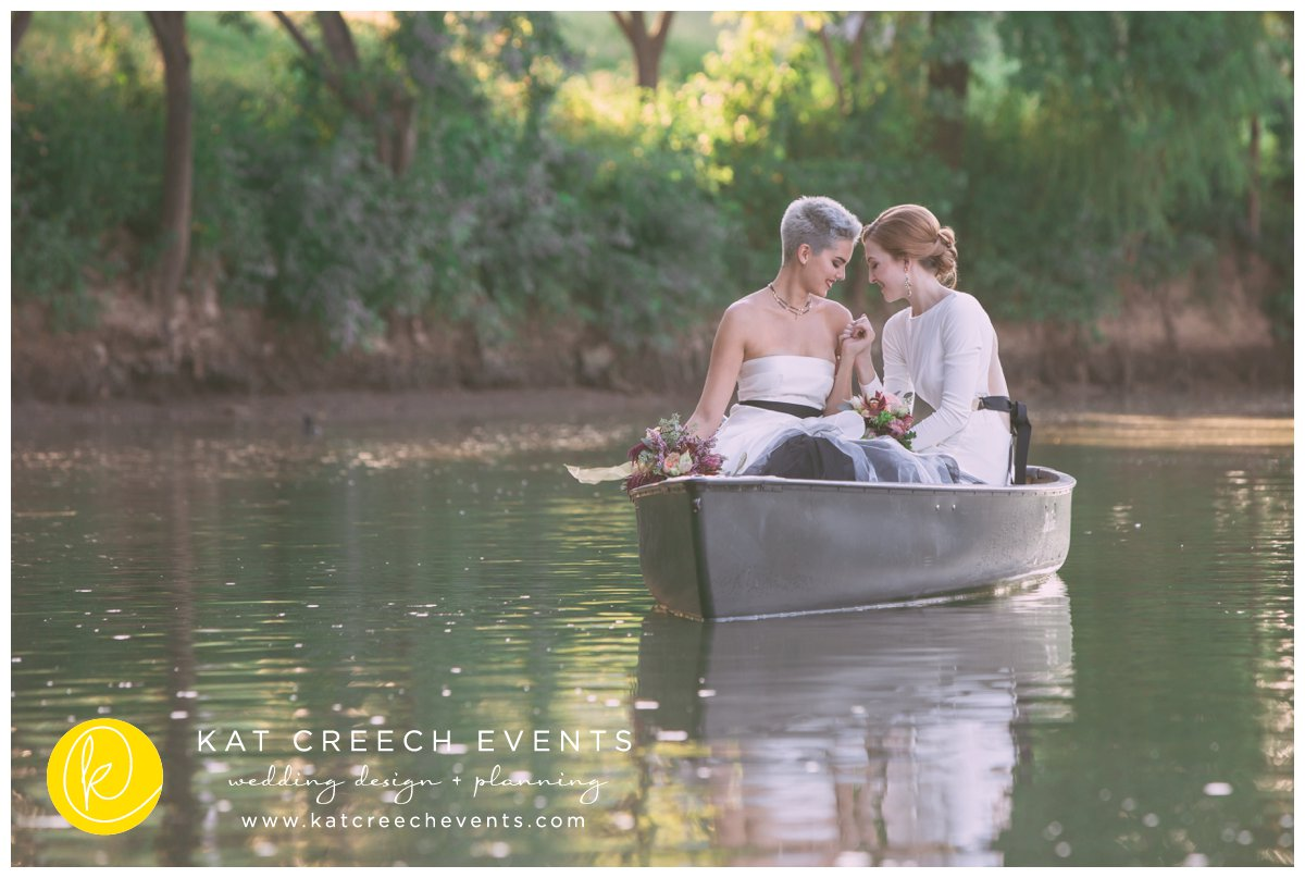 romance on the bayou | love wins | lgbt wedding | canoe