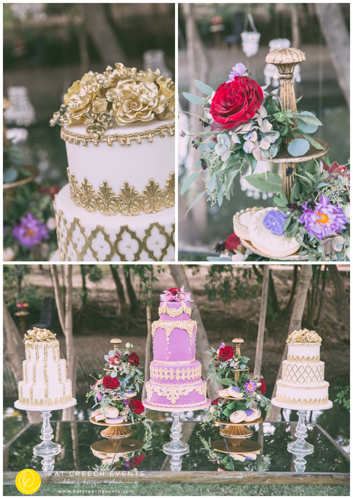 wedding cake | wedding cookies | romance on the bayou | kat creech events | wedding stylist