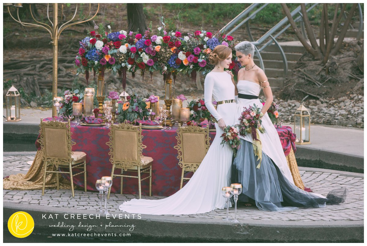 romance on the bayou | love wins | gold chairs | gold wedding | kat creech events | wedding stylist