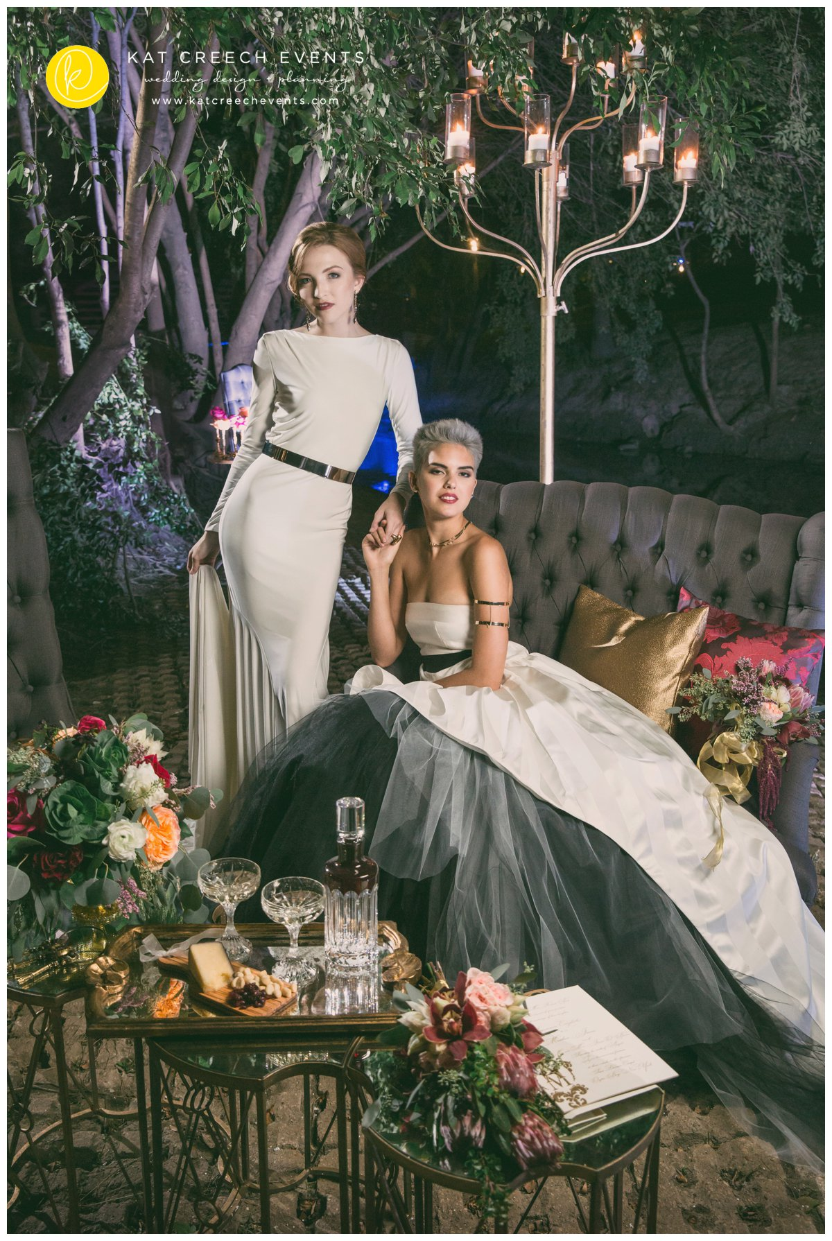 love wins | lgbt wedding | marriage equality |wedding dresses | tufted lounge | candelabra | romance on the bayou |kat creech events | wedding stylist