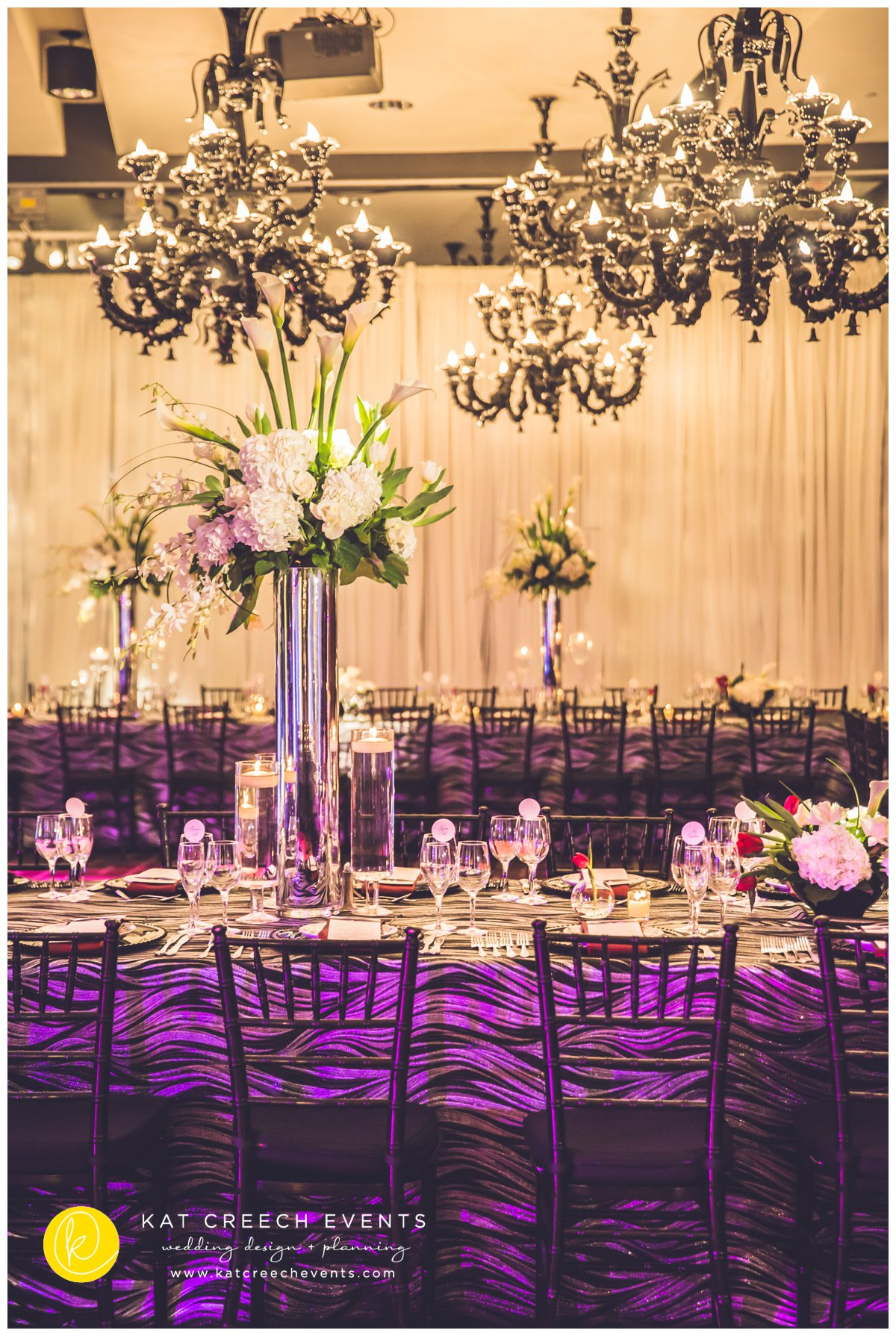 black and silver wedding   black and silver dance floor   Kat Creech Events