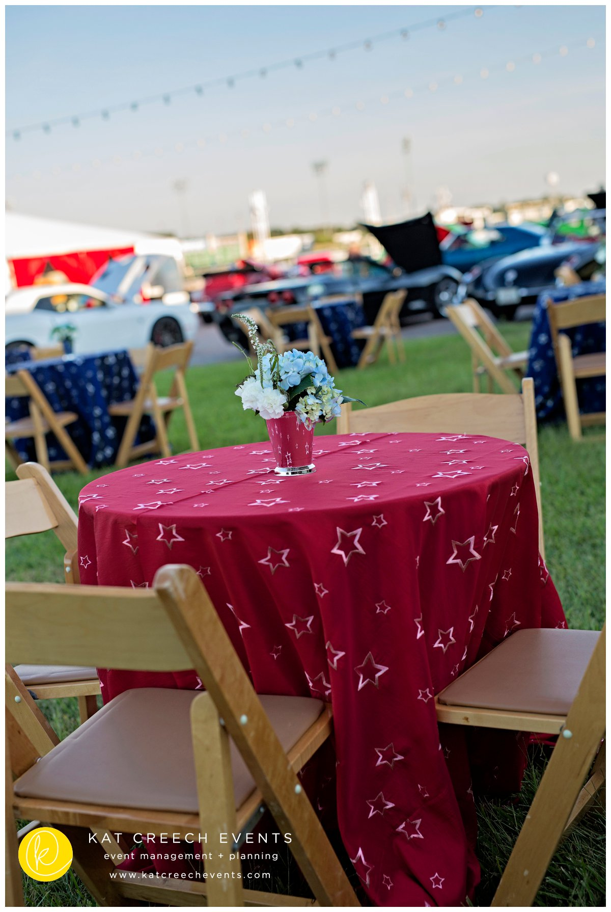 julep cup floral | patriotic linen | corporate event | outdoor event