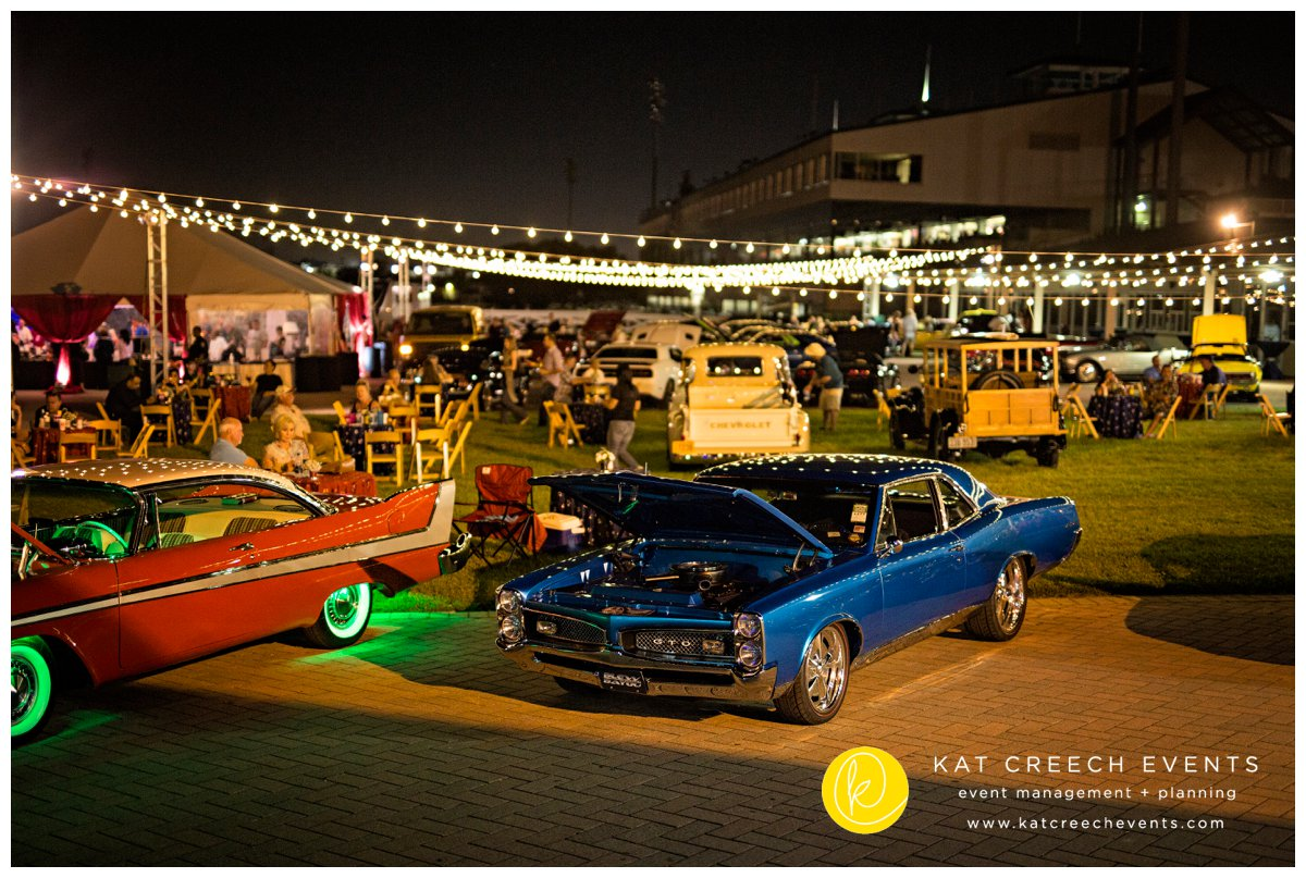 classic cars | vintage design | light strings | outdoor event