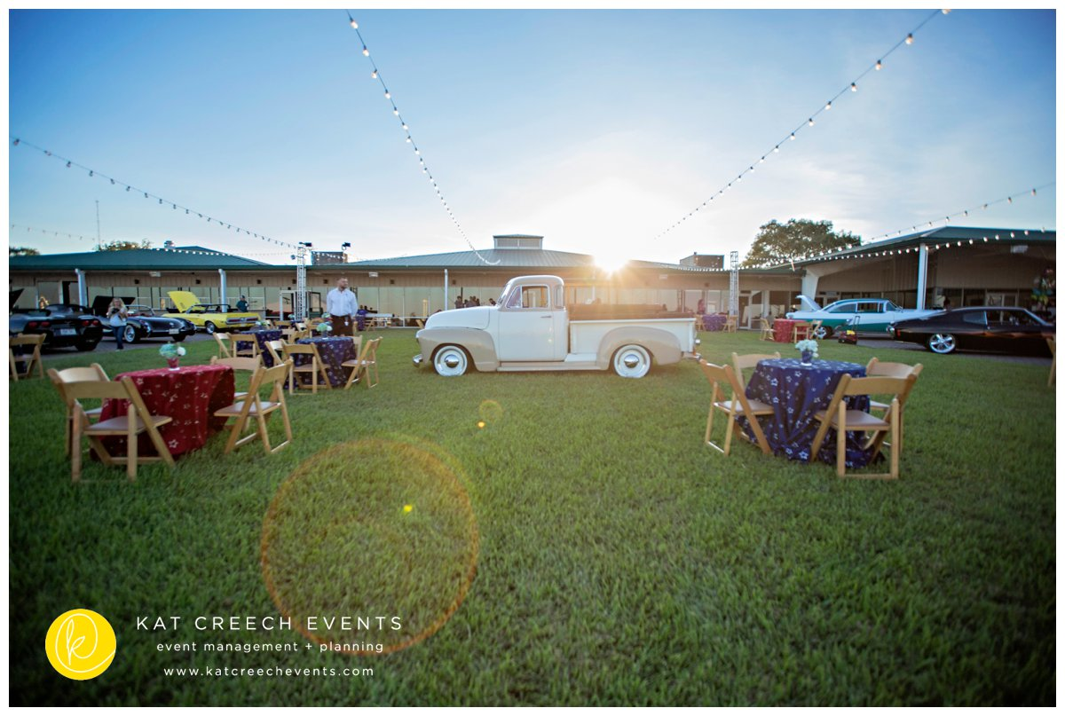 classic cars | light strings | non-profit | corporate event