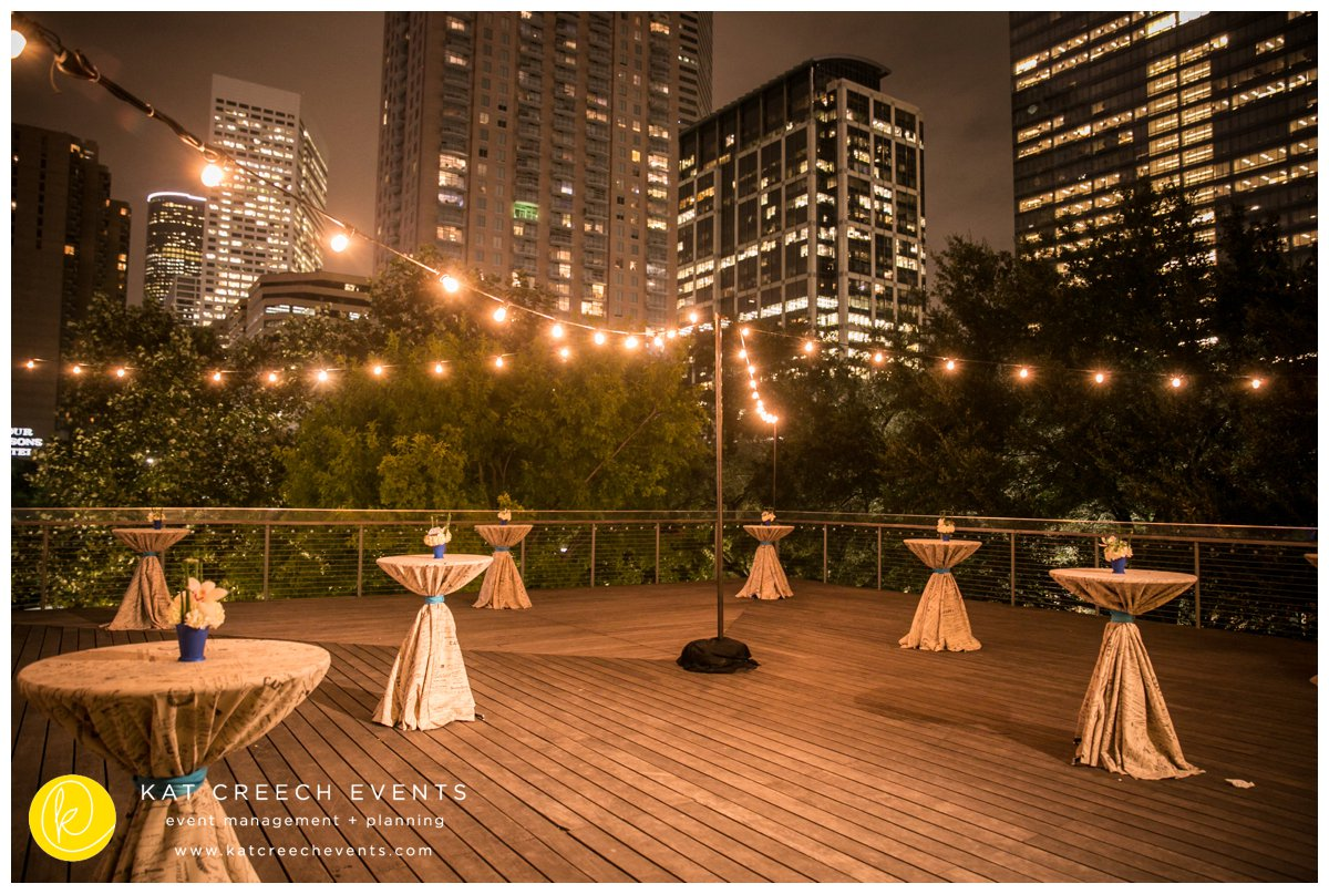 light strings |downtown Houston |skyline |The Grove |Kat Creech Events | event planner