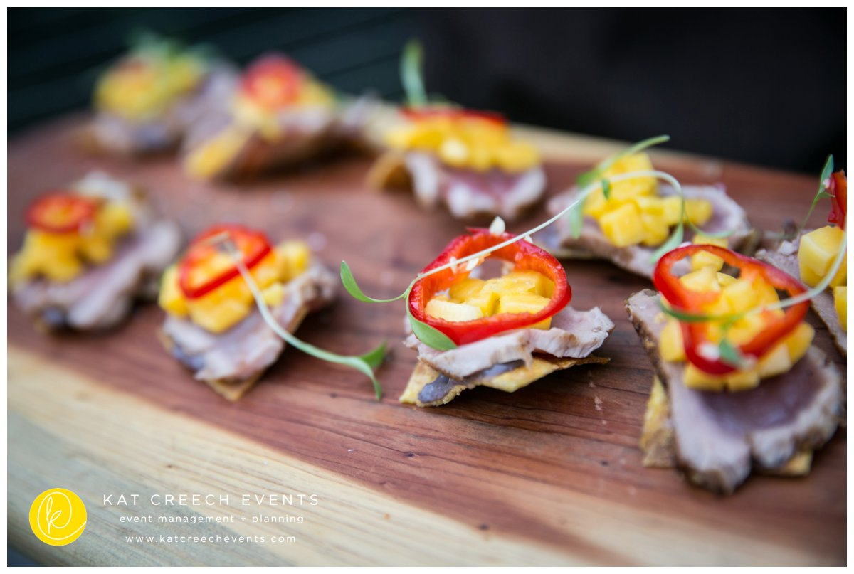 appetizers | corporate event |kat creech events |event planner