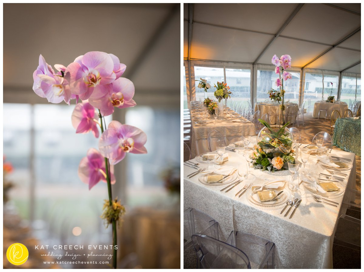 orchids | wedding centerpiece | wedding stylist
