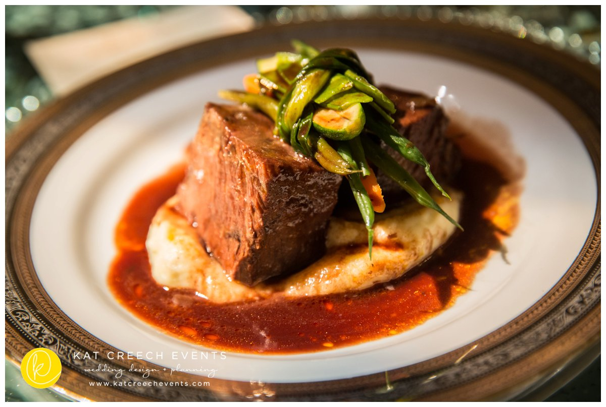 wedding food | french food | short ribs | entree