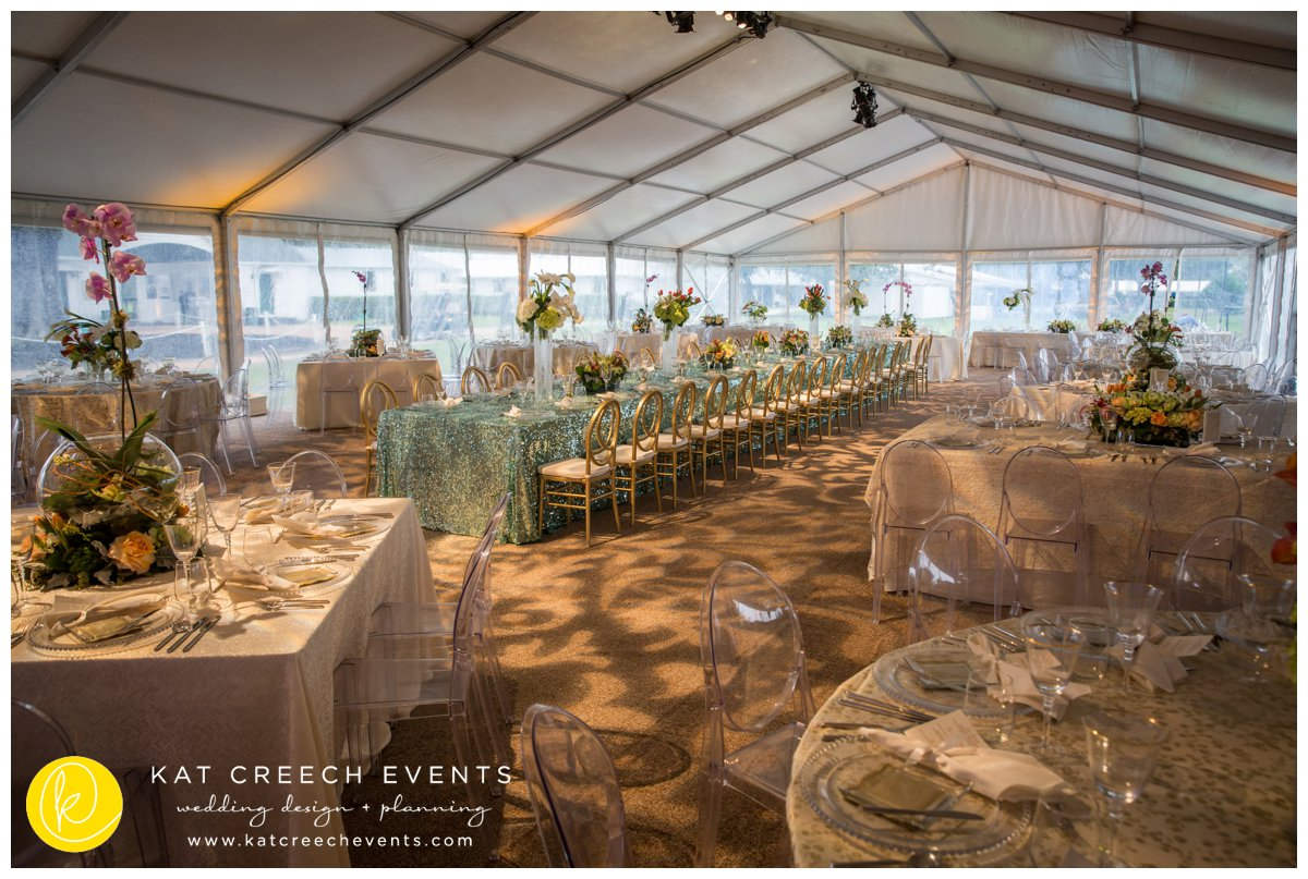 ghost chairs | gold infinity chair | wedding reception