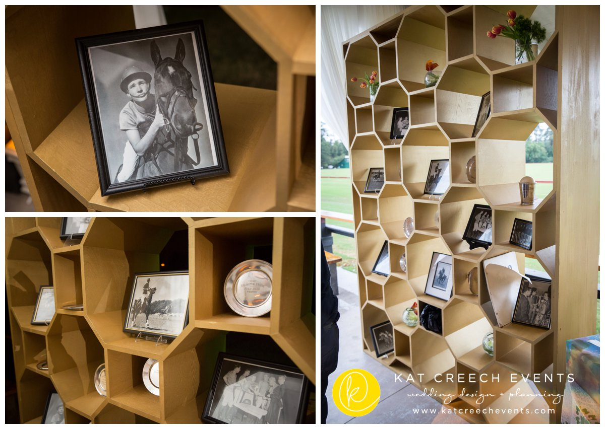 family photos | wedding memories | honeycomb shelf