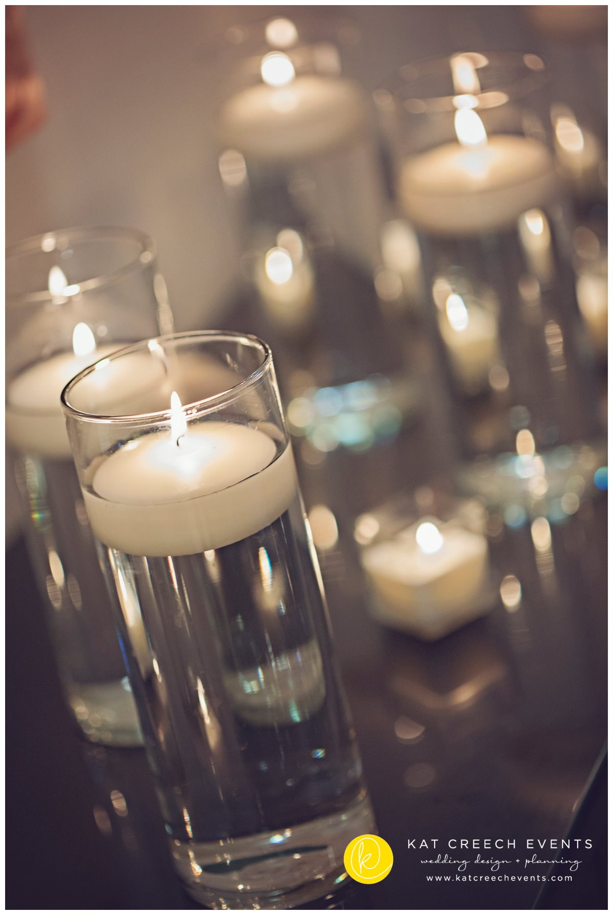 floating candles | wedding stylist | love wins