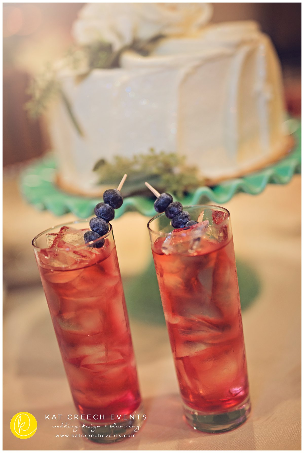 mocktails | blueberries | wedding drinks