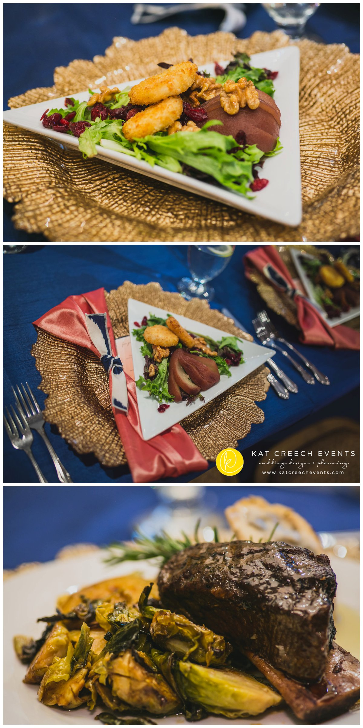 unique wedding food | asian pear salad | wedding catering | Kat Creech Events
