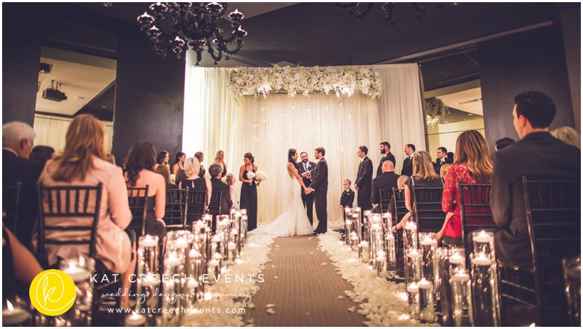 black, gold, and ivory wedding at Hotel Sorella