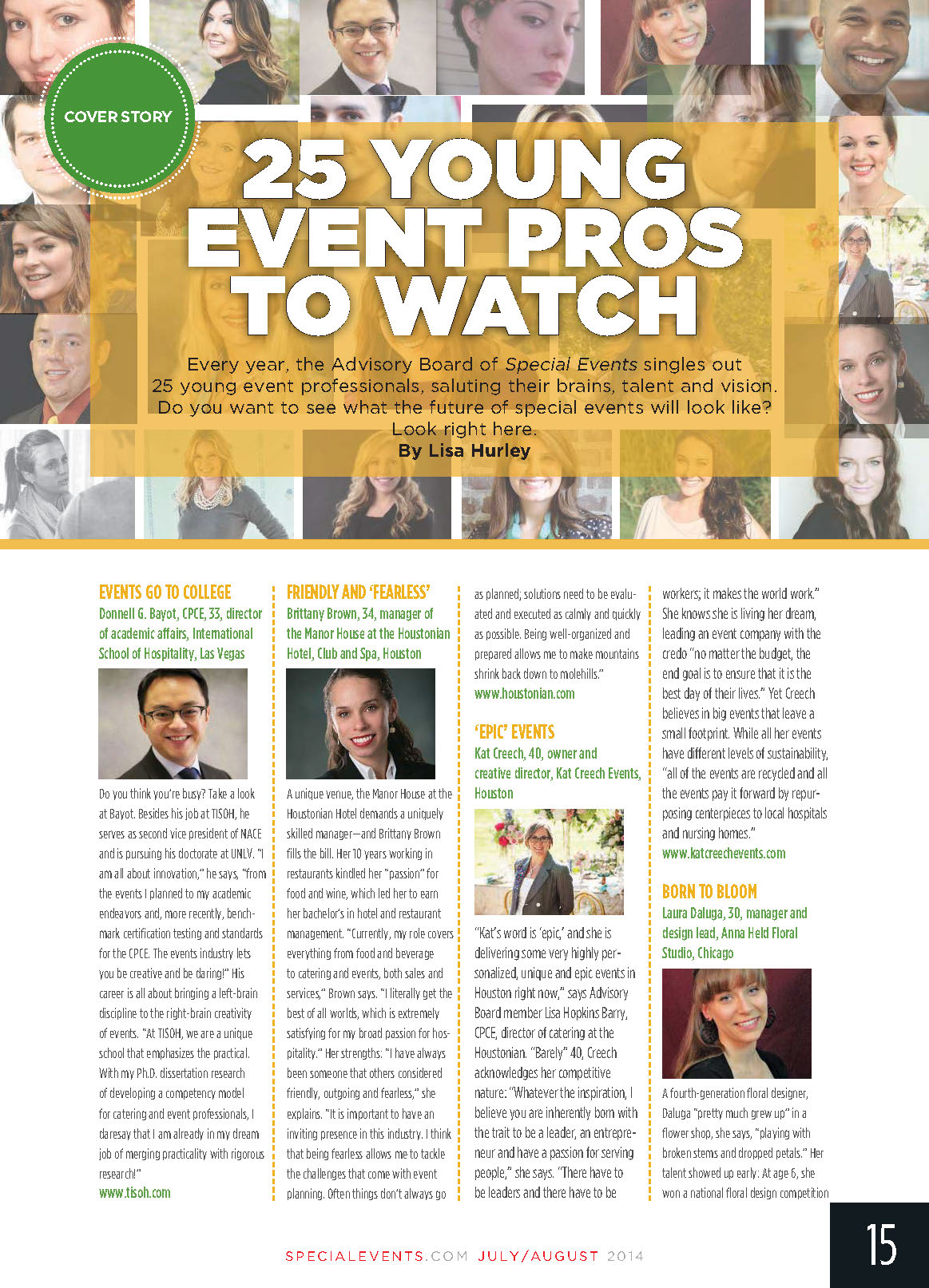 Kat Creech Named Top 25 Event Professionals by Special Events