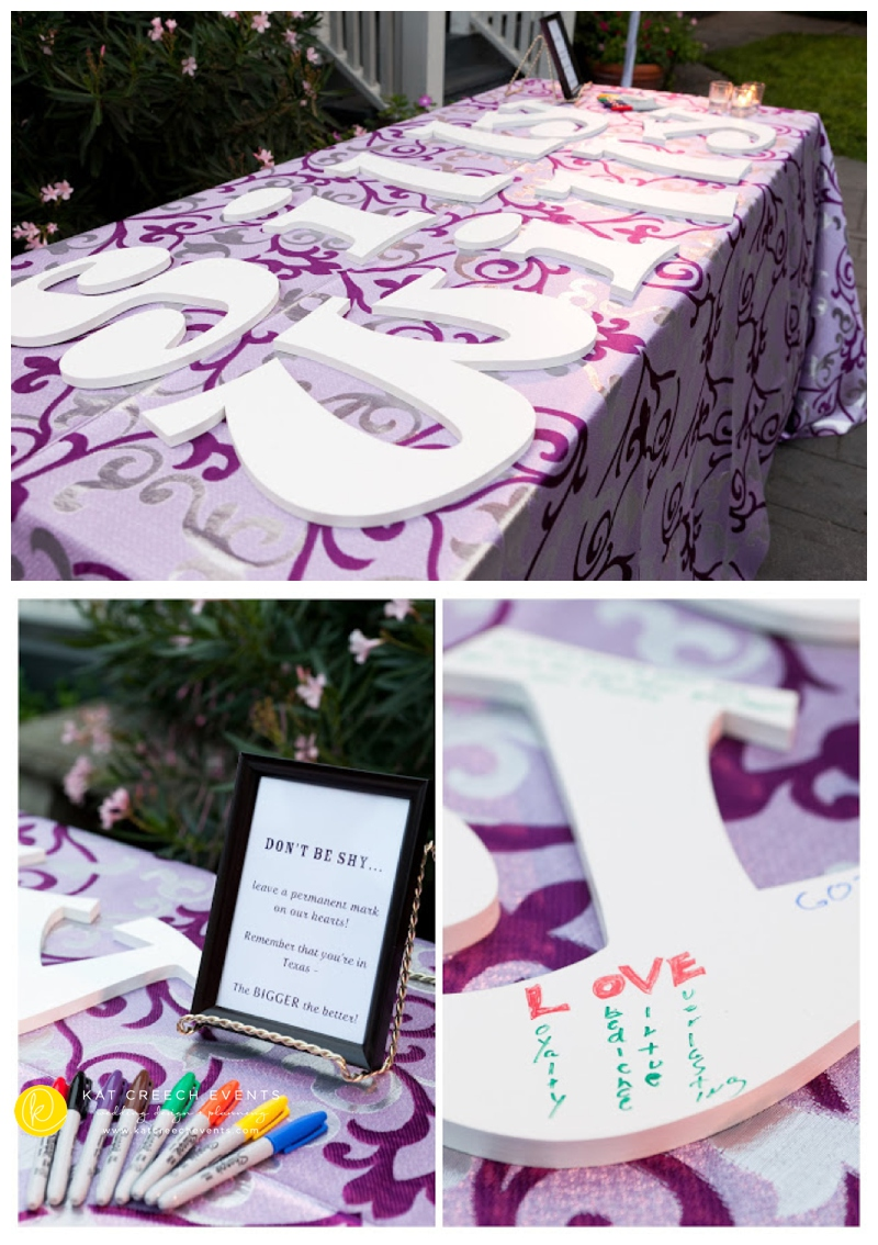 Wooden Letters Wedding Guest Book Wedding Planner Houston Texas