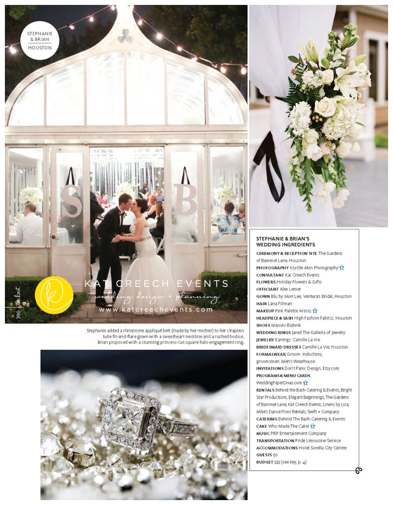 The Knot Magazine Featured Wedding