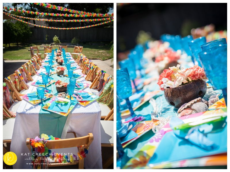 luau themed birthday party