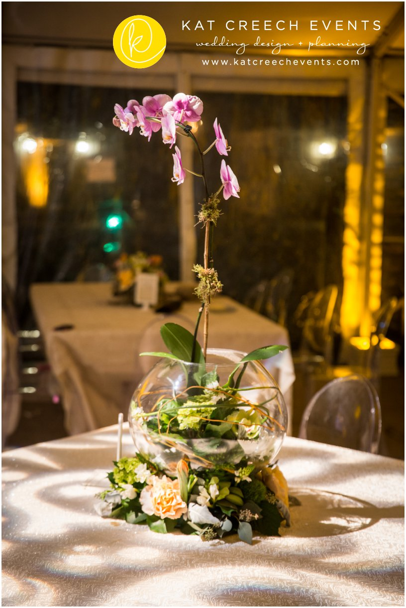 wedding orchids | ghost chairs | wedding planner